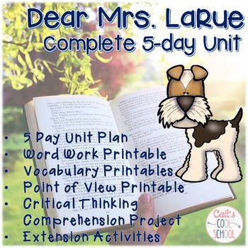 Mark Teague's Dear Mrs. LaRue Unit