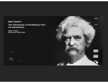 Mark Twain and The Adventures of Huckleberry Finn--Backgro