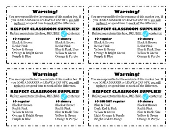 Marker Box Labels