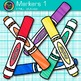 Rainbow Marker Clip Art {Back to School Supplies for Class