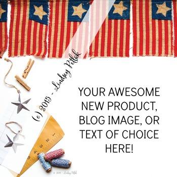 Marketing Maven VINTAGE AMERICAN FLAGS: Product Mockup, Bl