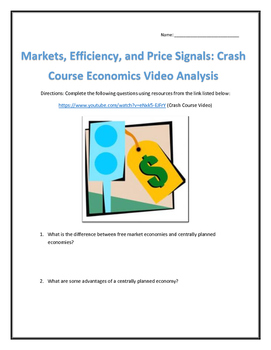 Markets, Efficiency, and Price Signals: Crash Course Econo