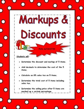 Markups and Discounts
