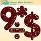 Maroon Glitter Math Numbers Clip Art {Great for Classroom