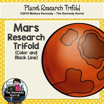 Mars Research Trifold {Space Research, Planets, Solar System}