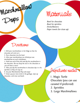 Marshallow Pops Technical Text and Quiz