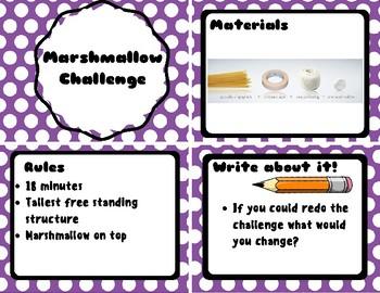 Marshmallow Challenge Card Set