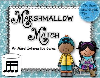 Marshmallow Match Aural Interactive Rhythm Game: Sixteenth Notes