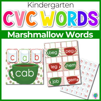Marshmallow Mats for Building CVC Word Families
