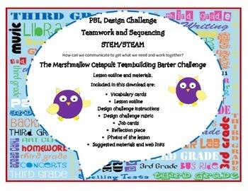 Barter Design Challenge - Marshmallow catapult (STEM/STEAM)