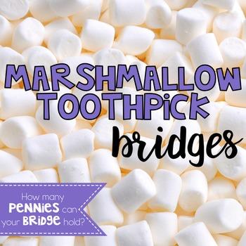Marshmallow Toothpick Bridges FREEBIE