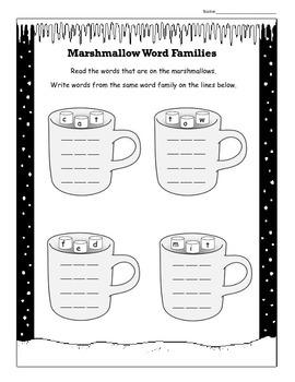 Marshmallow word families