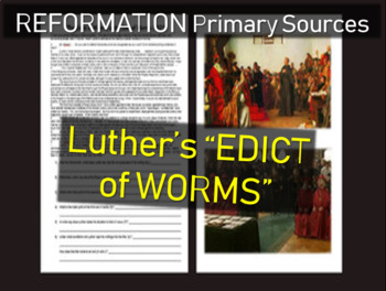 """Martin Luther """"Edict of Worms"""": Primary Source Document w"""