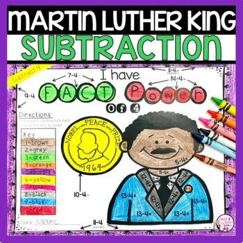 Martin Luther King Jr Subtraction Math