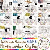Martin Luther King Day Clip Art MLK Day Bundle - Worksheet