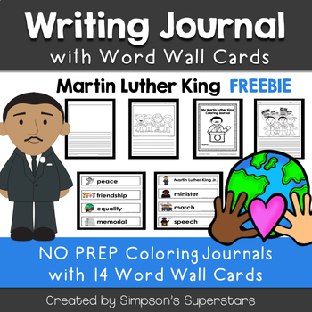 Martin Luther King Coloring Journal FREEBIE