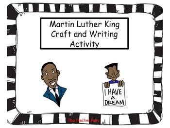 Martin Luther King Craft and Writing Activity