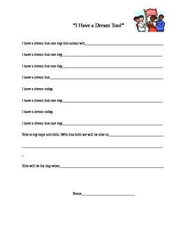 Martin Luther King Jr. Writing Assignment Freebie