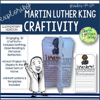 Martin Luther King Day Craftivity-January Activities-Eleme