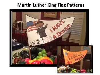Martin Luther King Flag Pattern