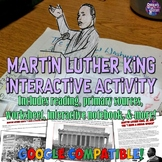 "Martin Luther King ""I Have a Dream"" Interactive Notebook &"