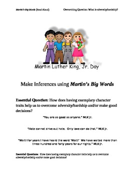 Martin Luther King Inference Lesson for Black History Month