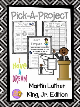 Martin Luther King, Jr. Pick A Project Writing Activities,