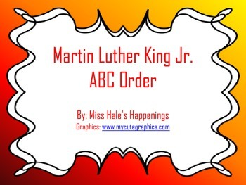 Martin Luther King Jr. ABC Order