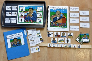 Martin Luther King Jr. Adapted Book and Vocabulary Activities