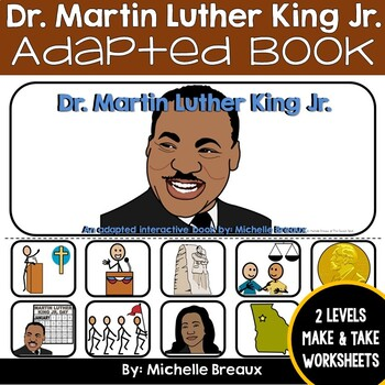 Martin Luther King Jr. Adapted Interactive B}ok {Autism, S