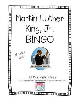 Martin Luther King, Jr.  BINGO (FREEBIE!)