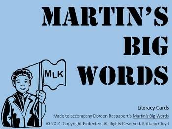 Martin Luther King Jr. Big Words Rappaport Task Literacy F