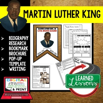 Martin Luther King, Jr. Biography Research, Bookmark Broch