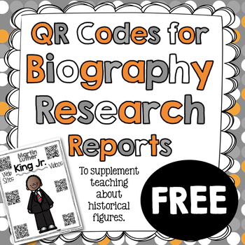 Martin Luther King Jr. Biography Research Report {QR Codes
