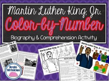 Martin Luther King, Jr. Biography and Color-by-Number Activity
