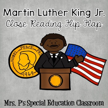Martin Luther King Jr. Close Reading Flip Flap