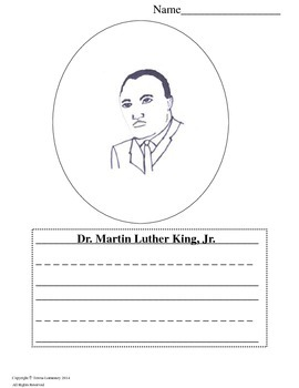 Martin Luther King, Jr.  Color and Write {Bell Ringer}