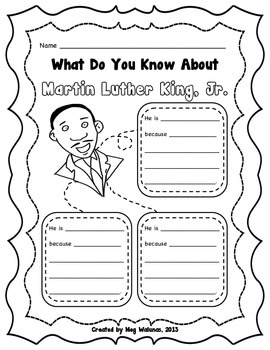 Martin Luther King, Jr. - Common Core Alligned