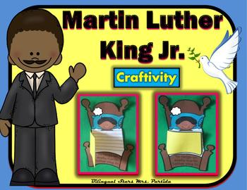 Martin Luther King Jr.  MLK  Spanish Craftivity Writing, M