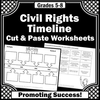 civil rights timeline activities for kids
