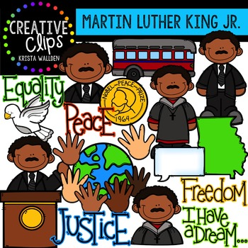 Martin Luther King Jr. Clipart: {Creative... by Krista Wallden ...