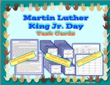 Martin Luther King Jr. Day Informational Text and Task Cards