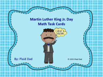 Martin Luther King Jr. Day Math Task Cards