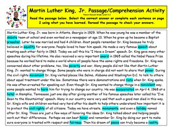 Black History Martin Luther King Jr. Day MLK Day Reading L