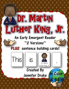 Martin Luther King Jr. Early Emergent Reader; 2 Versions P