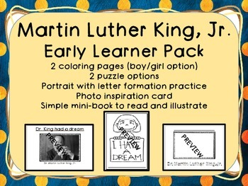 Martin Luther King, Jr. Early Learner Resource Pack