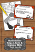 FREE Martin Luther King Jr Day Facts Task Cards Literacy C