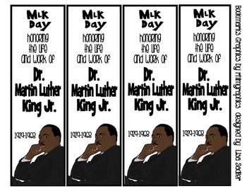 Martin Luther King Jr. (FREEBIE) Bookmarks - UPDATE