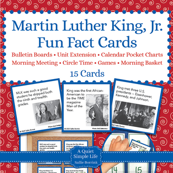 Martin Luther King Jr. Unit Activity - Fun Fact Cards for