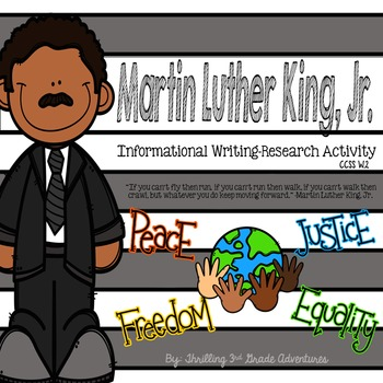 Martin Luther King Jr. Informational Writing Activity